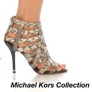 Michael Kors Collection leather heels sandals sz 8